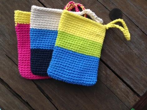 Crochet shower mitt