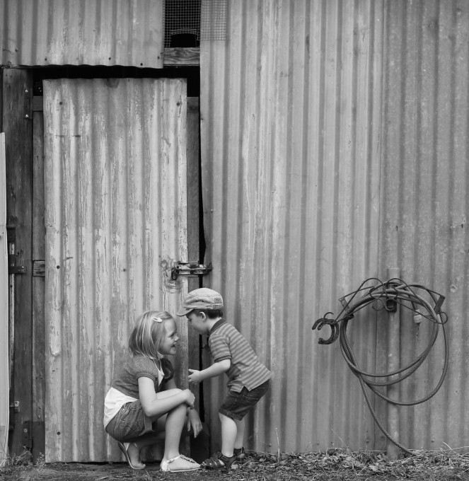 28-2-15_max_milly_in front of tack shed_black and white